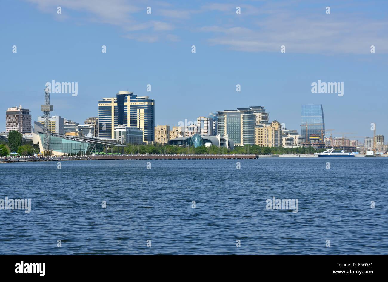 Baku Bay, Azerbaijan Stock Photo