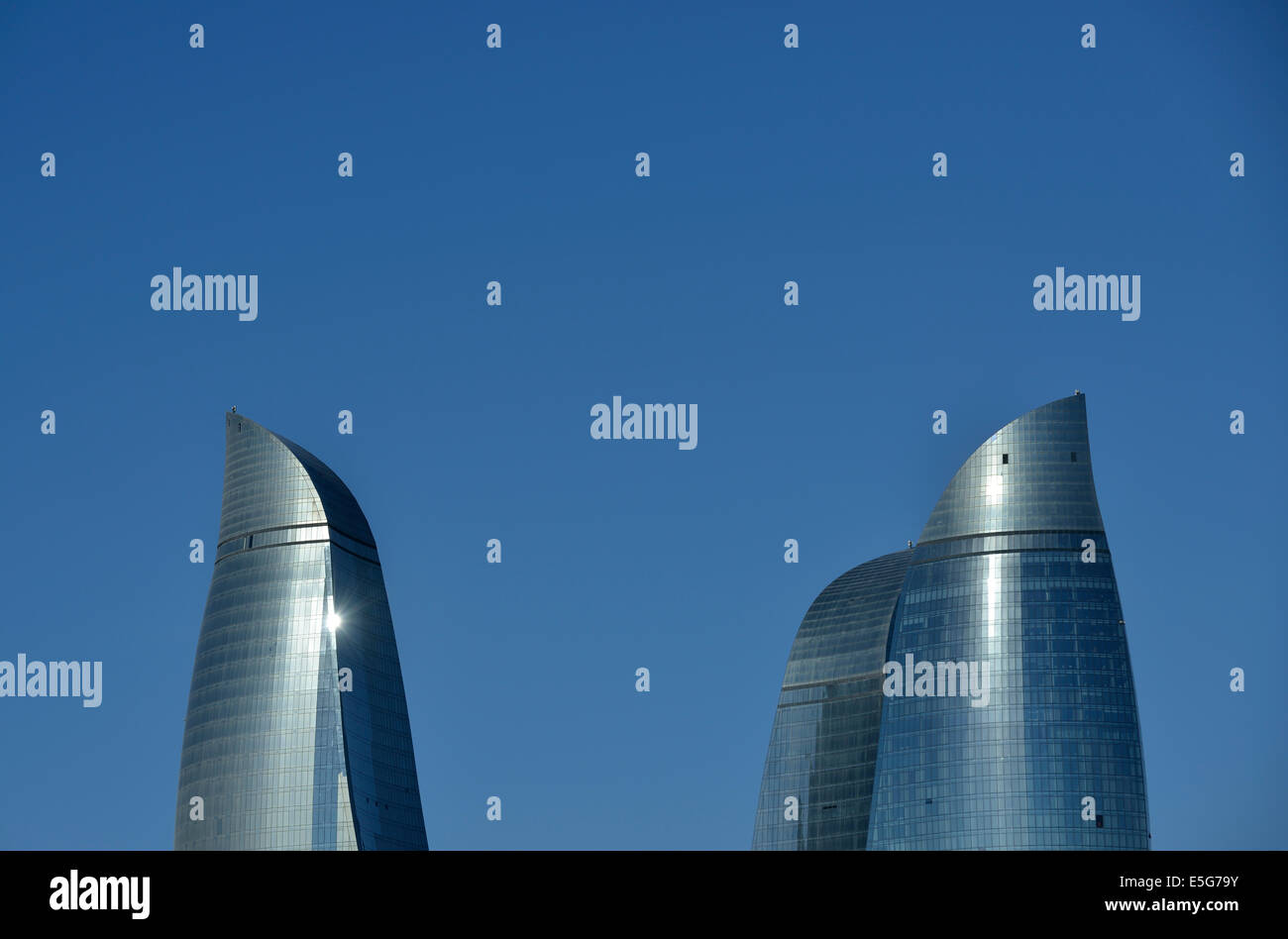 Flame Towers, Baku, Azerbaijan - Stock Image