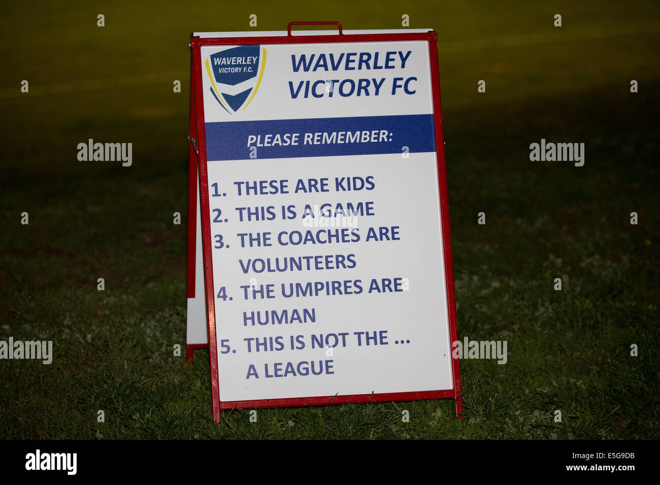 Fair Play Rules Stock Photos Images Alamy Fairplay Wiring Diagram Sign At Junior Soccer Match Australia Image