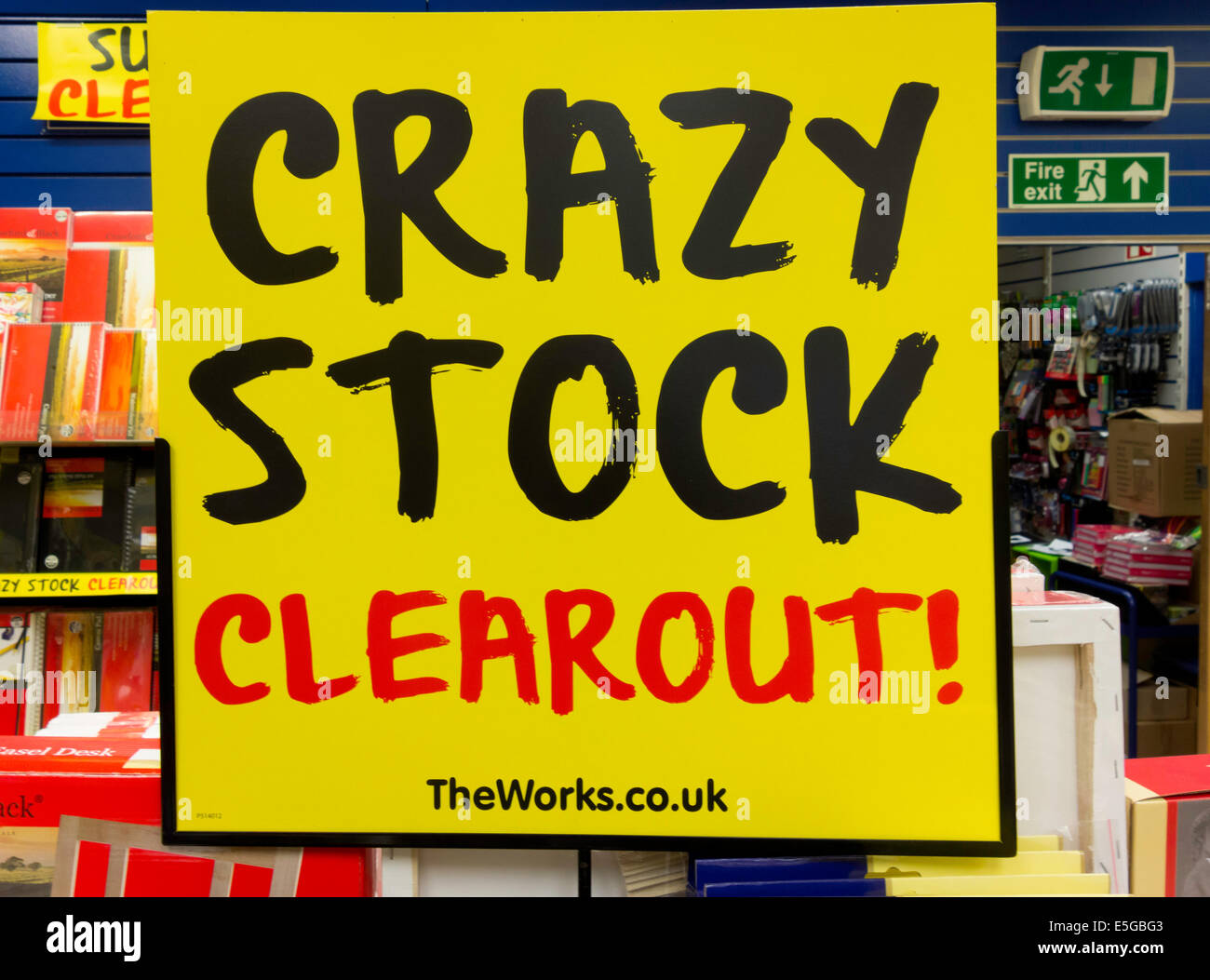 3972aa1d Sale of goods promotion notice Crazy Stock Clear Out Stock Photo ...