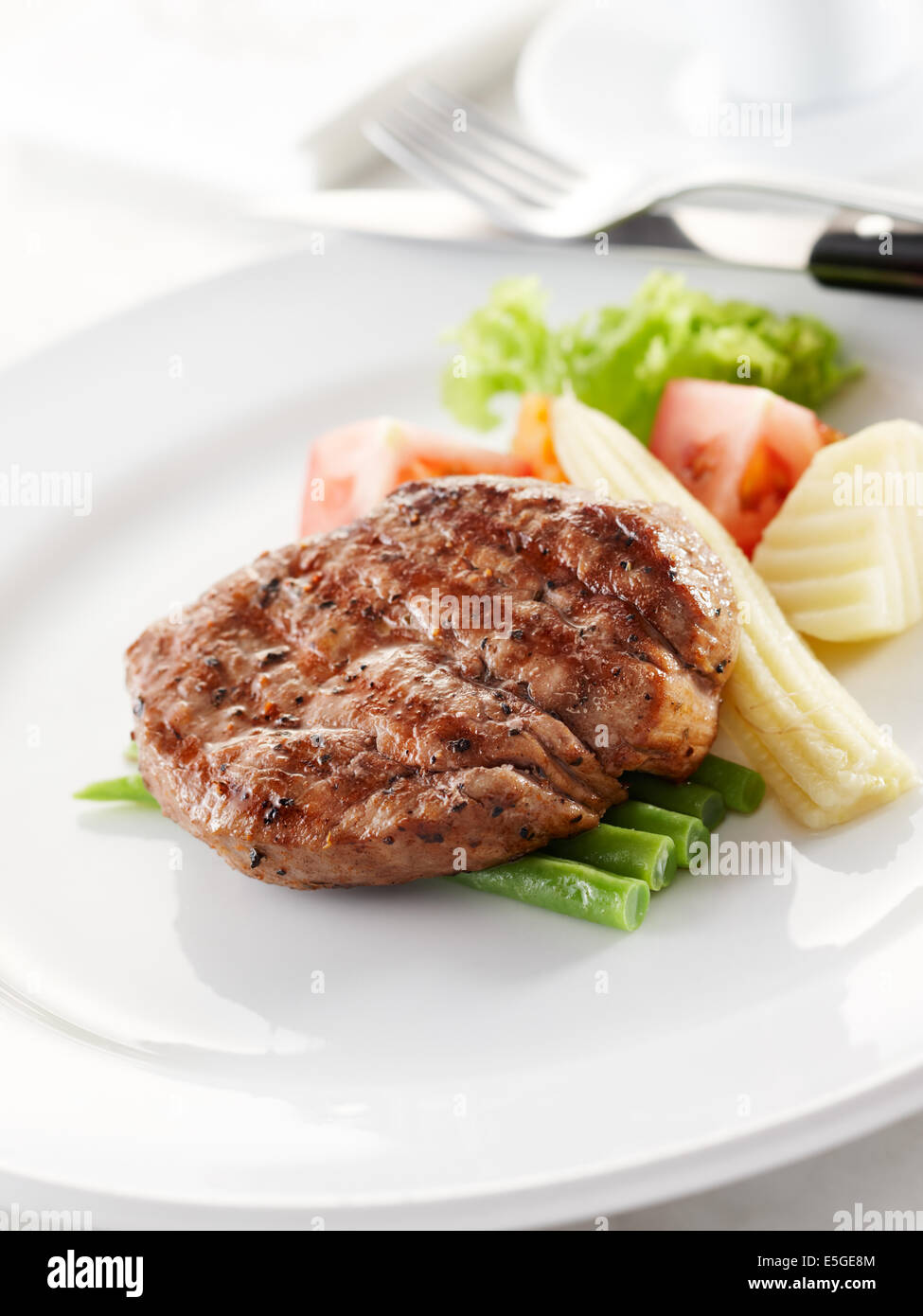 delicious tenderloin steak, shallow depth of field - Stock Image
