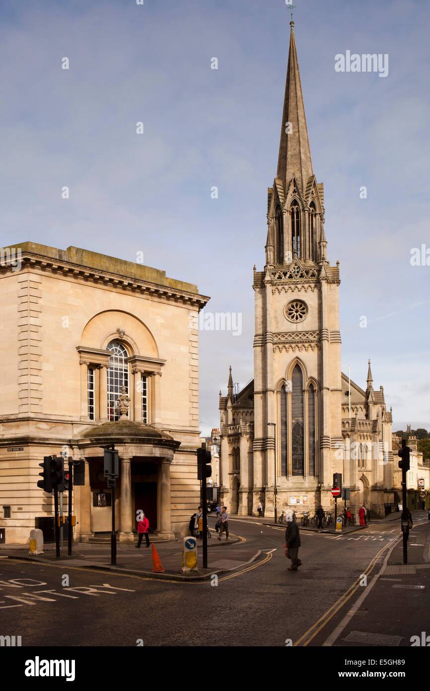 UK, England, Wiltshire, Bath, High Street, St Michael's Without Church, Post Office and Postal Museum - Stock Image