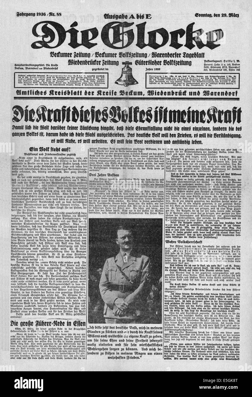 Die Glocke Germany Speech By Adolf Hitler In Berlin S Stock