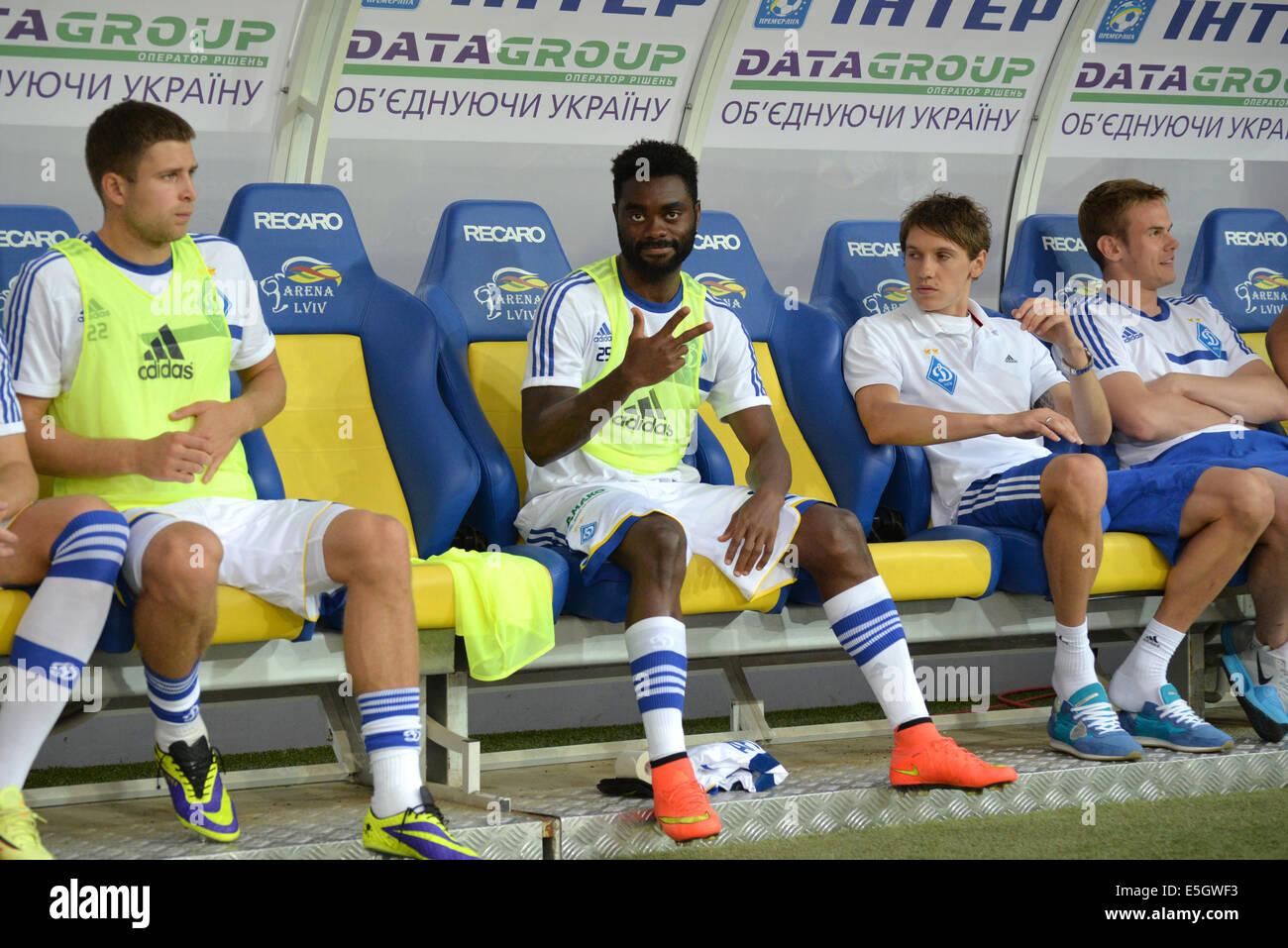 LUKMAN HARUNA during the match Inter between 'Shakhtar' (Donetsk City) and Dynamo (Kyiv) at Stadium Arena - Stock Image