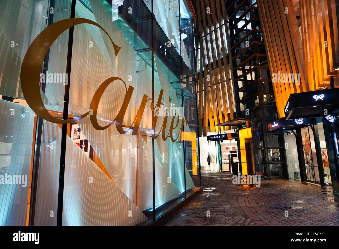Luxury shops in Omotesando district, Tokyo, Japan. - Stock Image
