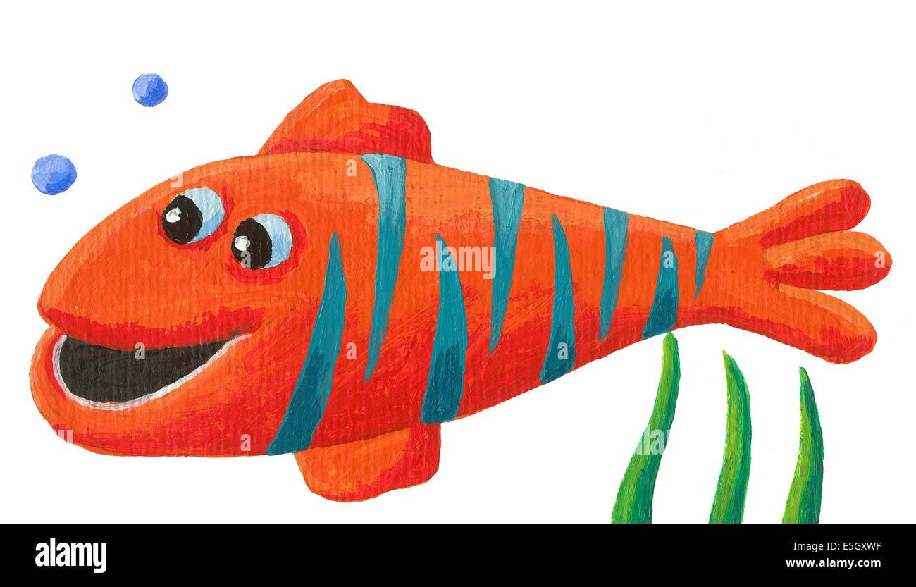 Group Funny Cartoon Fish Sea Stock Photos & Group Funny Cartoon Fish ...