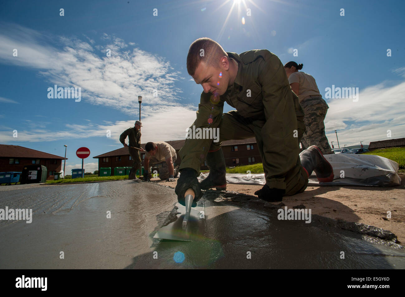 U.S. Air Force Senior Airman Alexander Root-Davis, with the 140th Civil Engineer Squadron (CES), Colorado Air National Stock Photo
