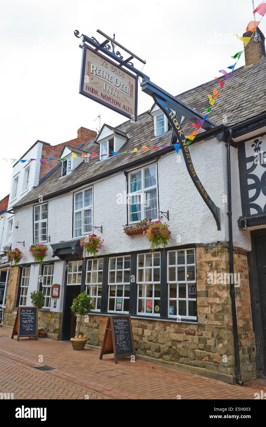 Ye Olde Reine Deer Inn Parson's Street Banbury Oxfordshire UK - Stock Image