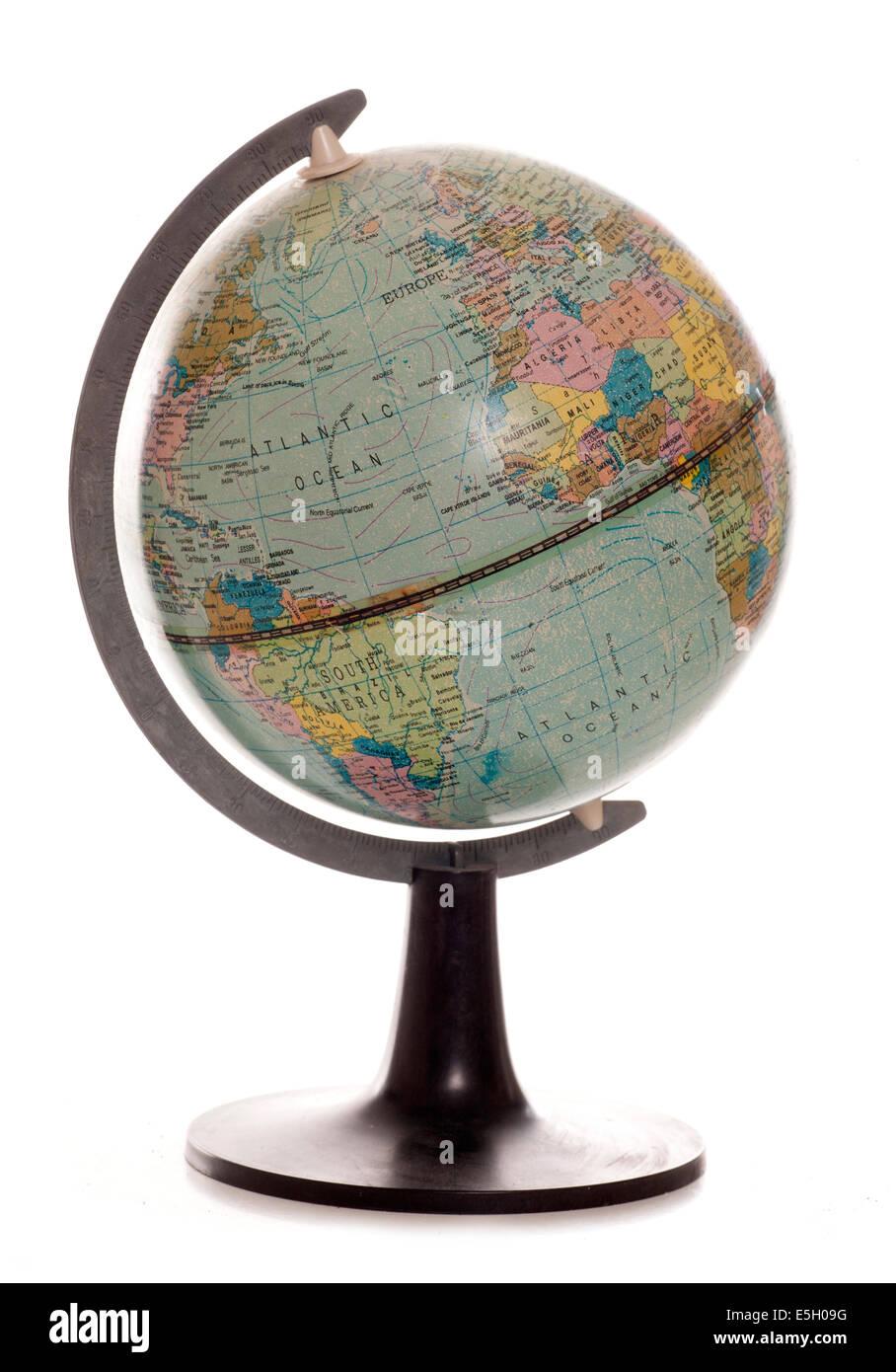 Vintage desk globe studio cutout stock photo 72288204 alamy vintage desk globe studio cutout gumiabroncs Image collections