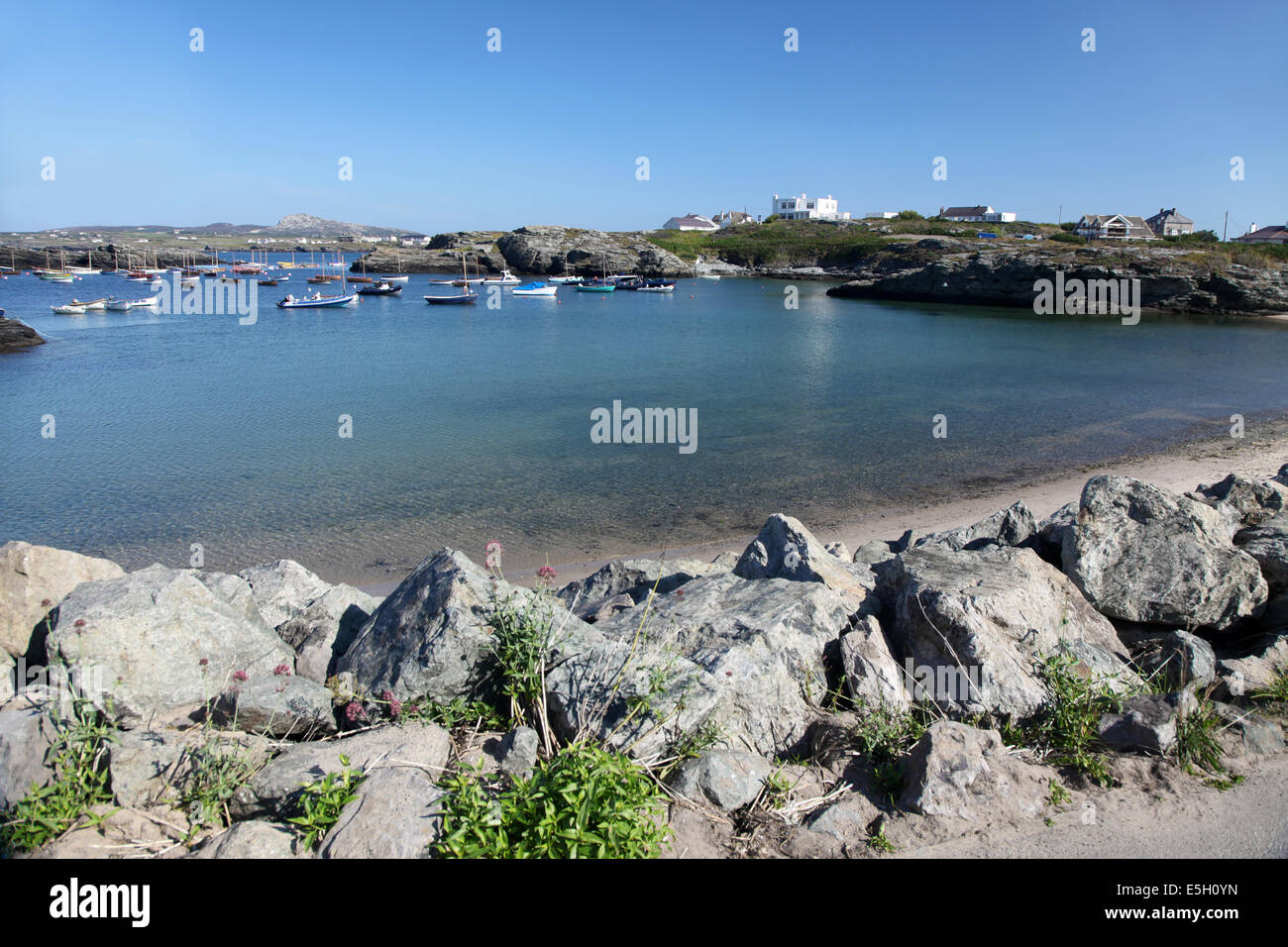 A quiet backwater in North wales on a sunny day in July - Stock Image