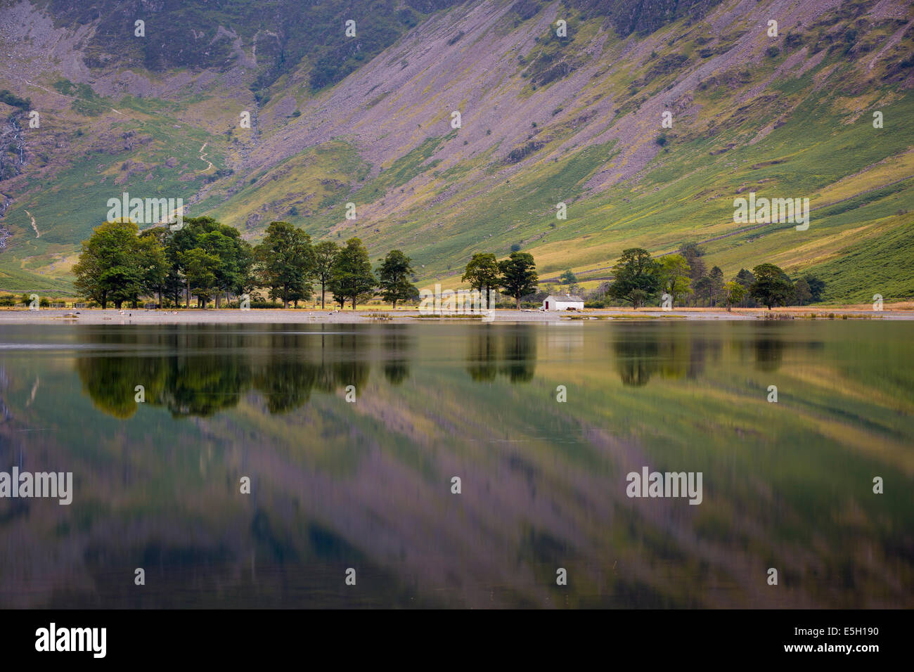 Pre-dawn reflections on Buttermere Lake, Cumbria, Lake District, England Stock Photo