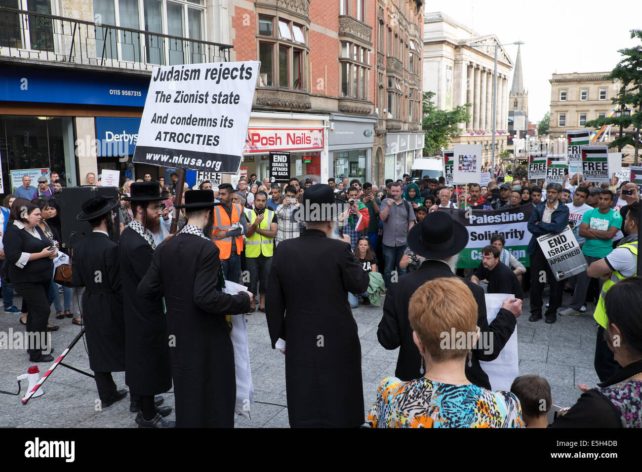 Nottingham, UK. 31st July, 2014. Palestine solidarity campaign march from the BBC media center on London road to - Stock Image