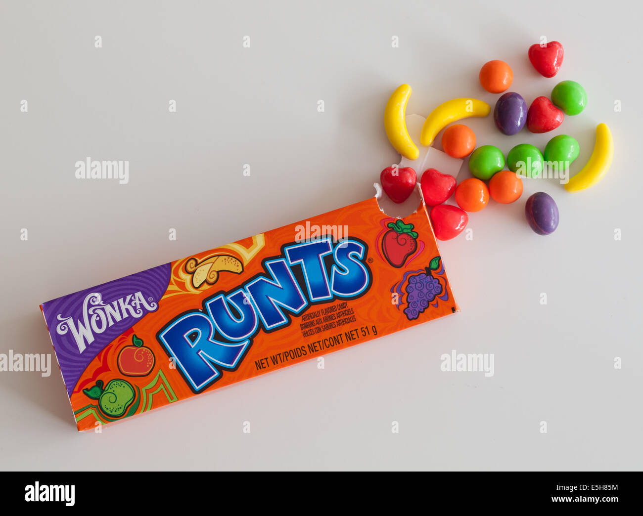 A box of Runts (or Fruit Runts) candy  These hard candies