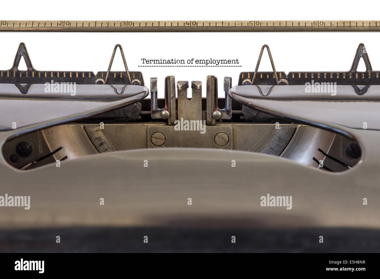 Termination of employment written on a typewriter - Stock Image