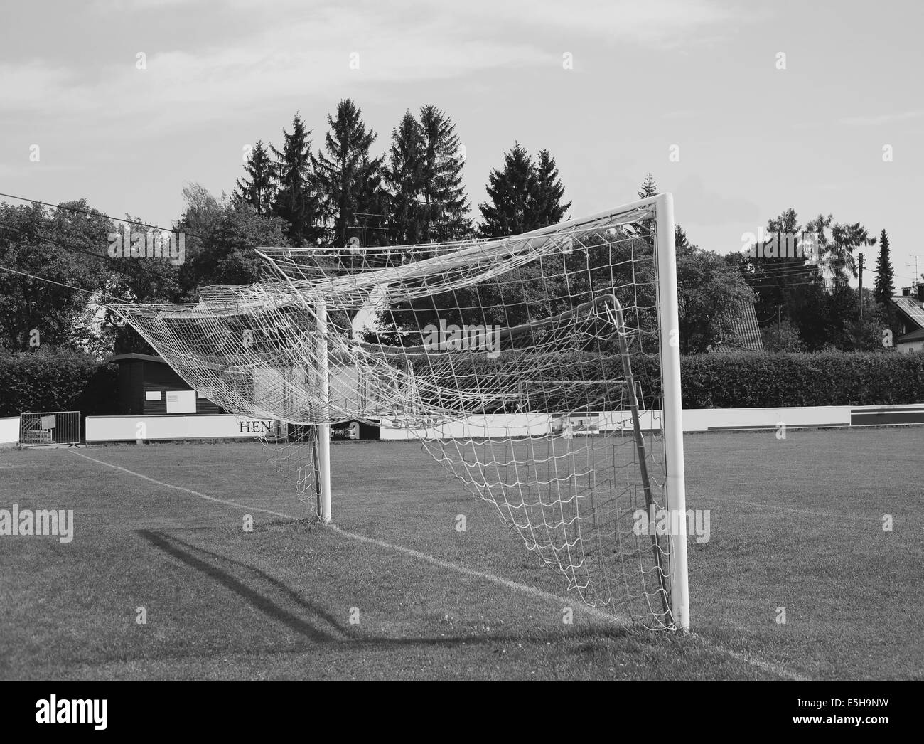 Football gate - Stock Image