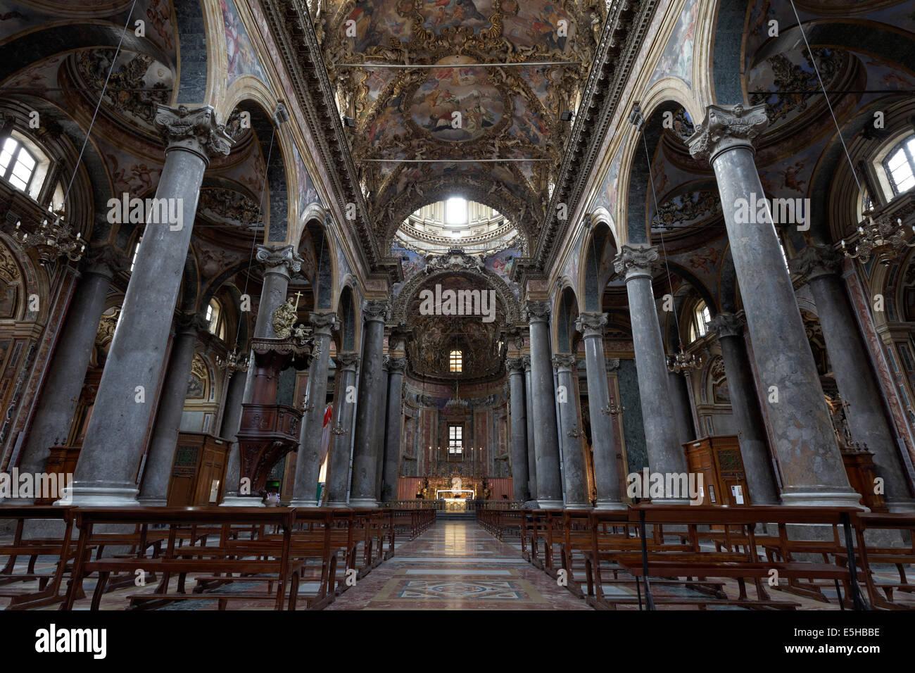 Baroque church of San Giuseppe dei Teatini, Palermo, Province of Palermo, Sicily, Italy - Stock Image