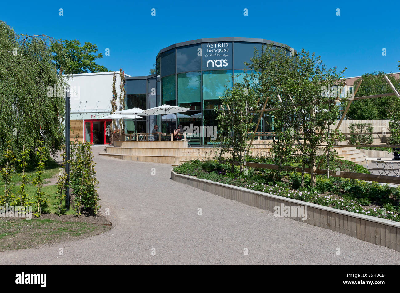 Information and Cultural centre Astrid Lindgren Näs, Vimmerby, Smaland, Sweden - Stock Image