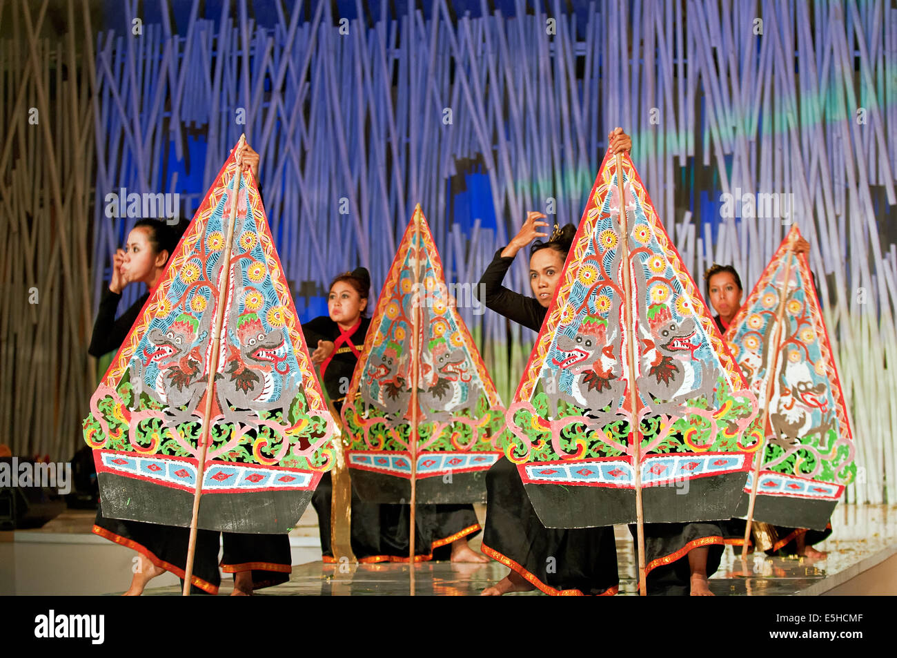 INDONESIAN CULTURAL MASK FESTIVAL 2010 ( MAIN EVENT )October 16th 2010-Evening Time The program held at The Cultural - Stock Image