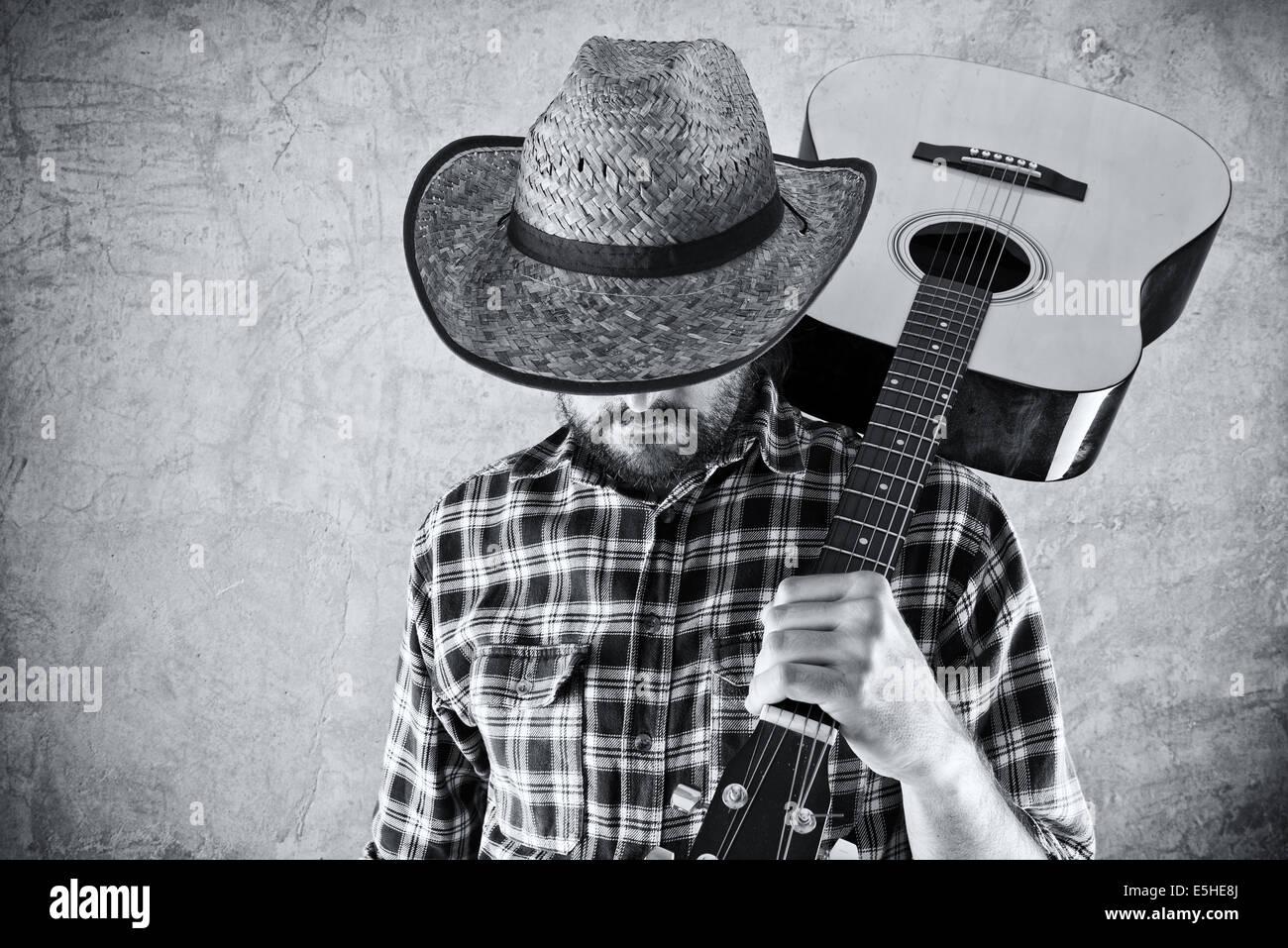 bdc8e78773fe0 Black Cowboy Hat Stock Photos   Black Cowboy Hat Stock Images - Alamy