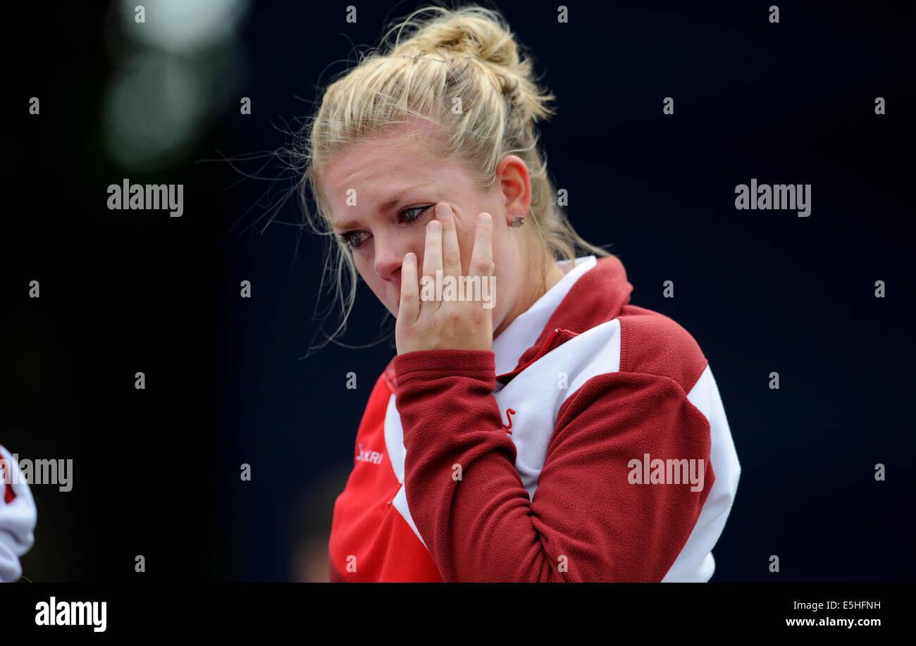 JAMIE-LEA WINCH ENGLAND KELVIN GREEN GLASGOW SCOTLAND 01 August 2014 - Stock Image
