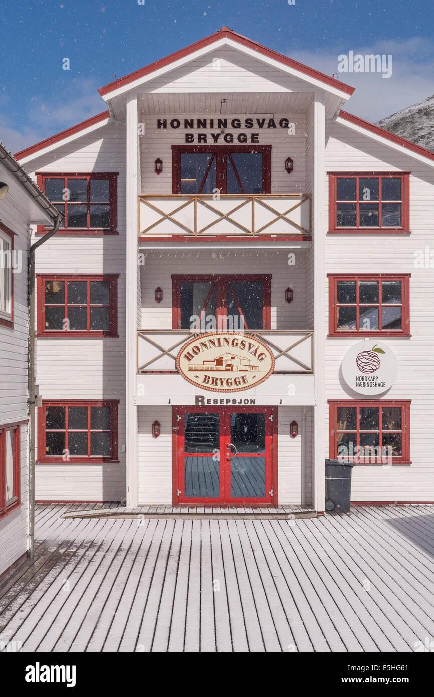 Norway, Finnmark, Honningsvåg brygge accommodation - Stock Image