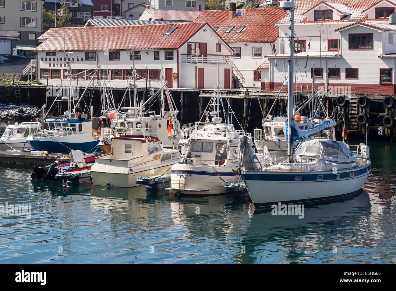 Norway, Finnmark, Honningsvåg harbour - Stock Image