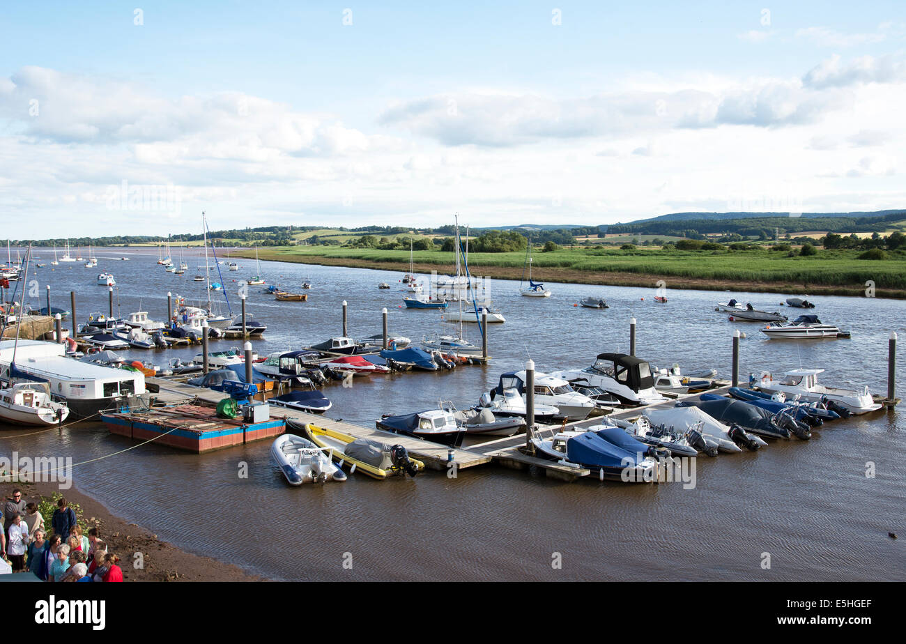 Moorings on the River Exe at Topsham south Devon England UK - Stock Image