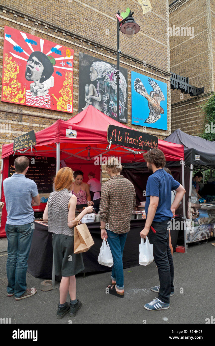 Street food market in Whitecross Street London EC1 KATHY DEWITT - Stock Image
