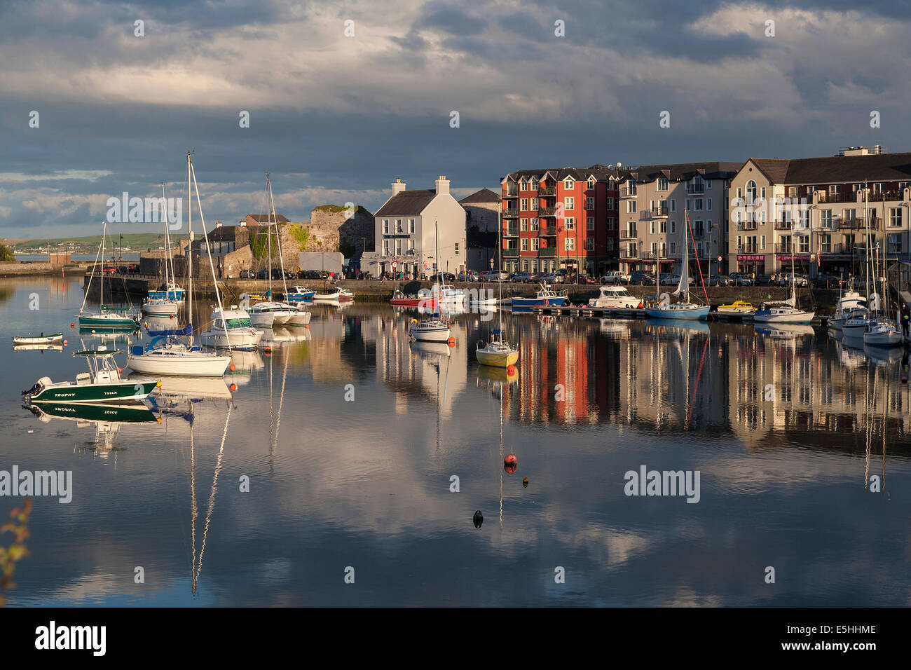 Ireland, County Waterford, Dungarven harbour - Stock Image