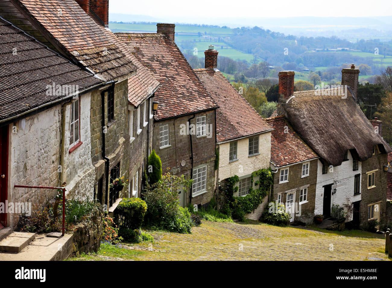 9649. Gold Hill, Shaftsbury, Dorset - Stock Image