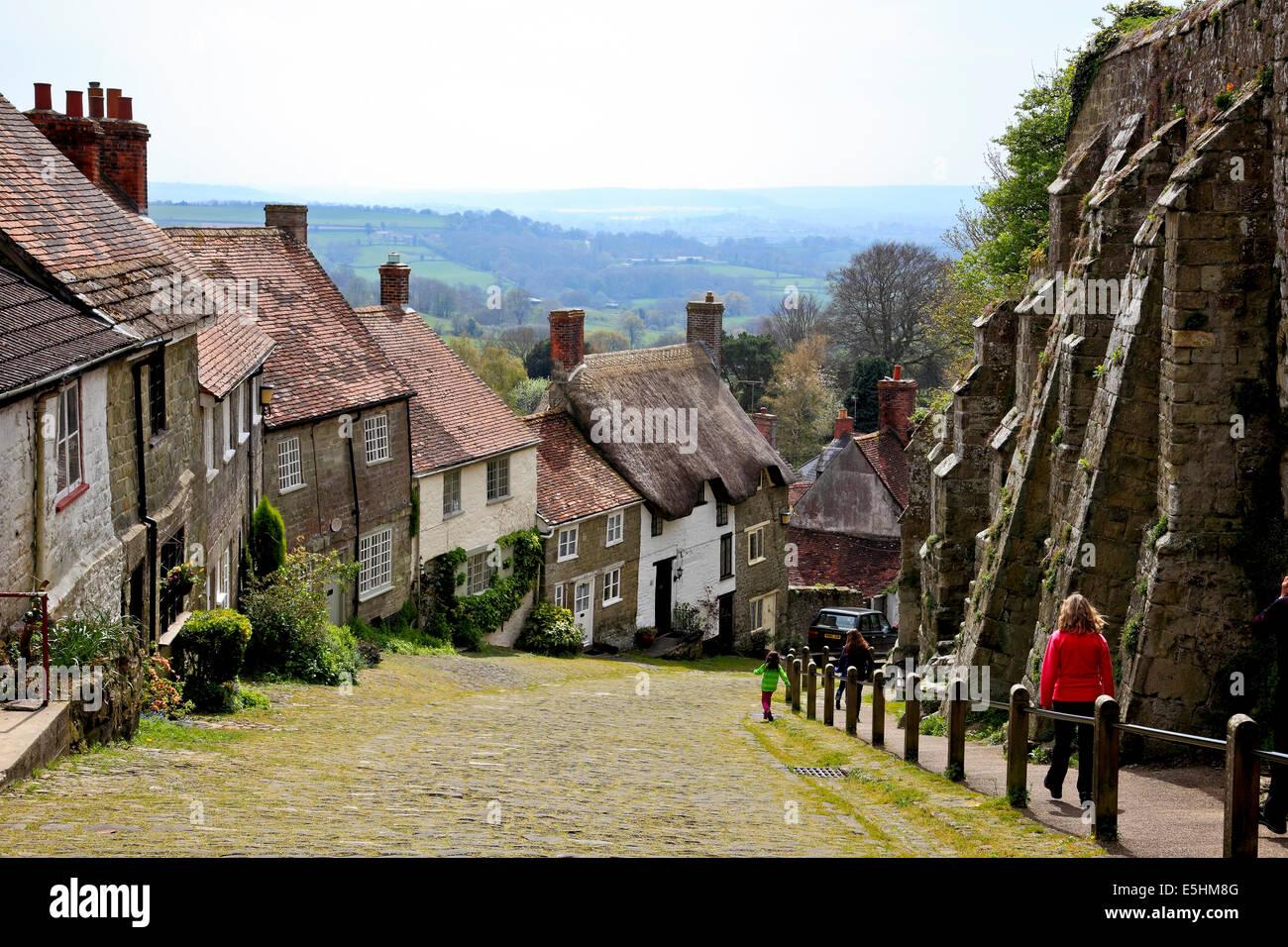 9650. Gold Hill, Shaftsbury, Dorset - Stock Image