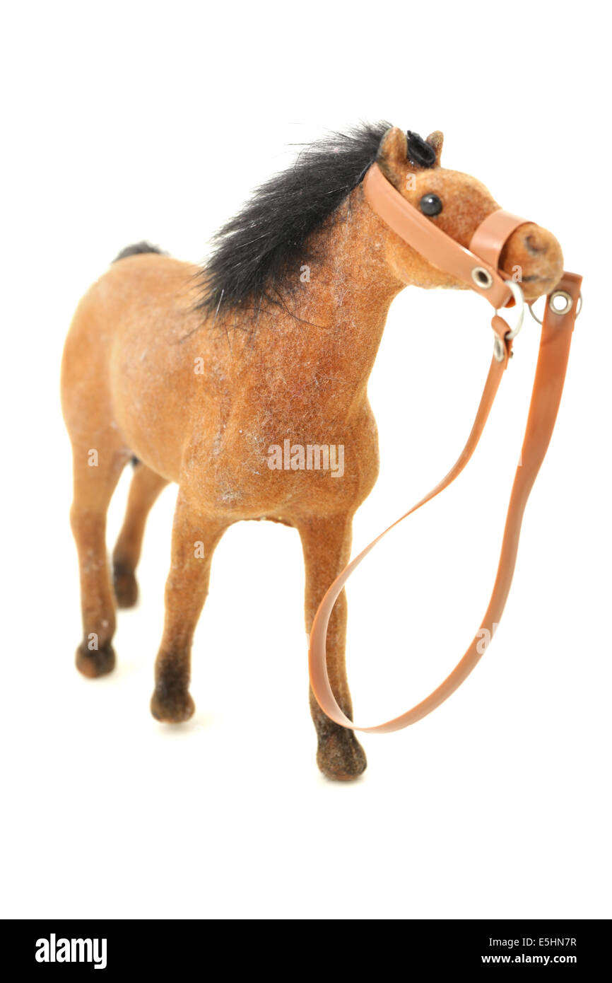 Small plastic horse - Stock Image