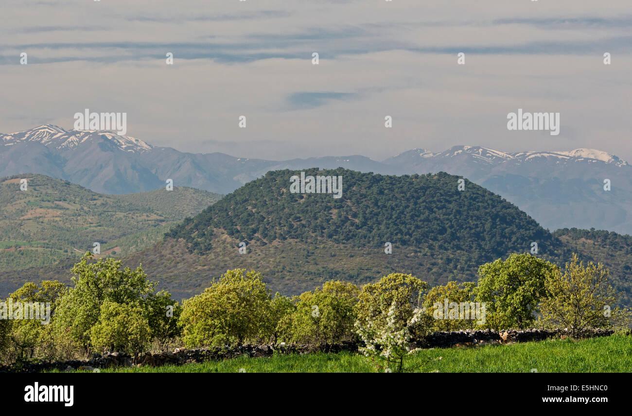 Kaplan volcanic cone Kula Geological Park Manisa Turkey - Stock Image