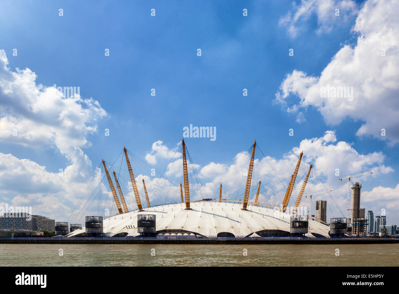 The 02 Arena, The Dome, the Millenium Dome - Entertainment and sports venue on the Greenwich Peninsula, North Greenwich, - Stock Image