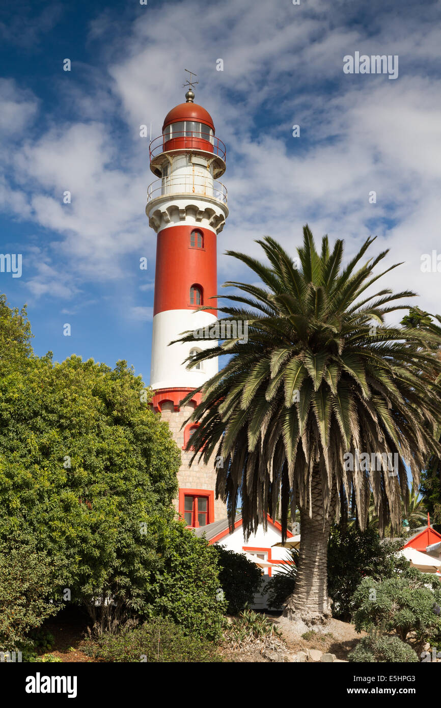 Lighthouse at Swakopmund, Namibia - Stock Image