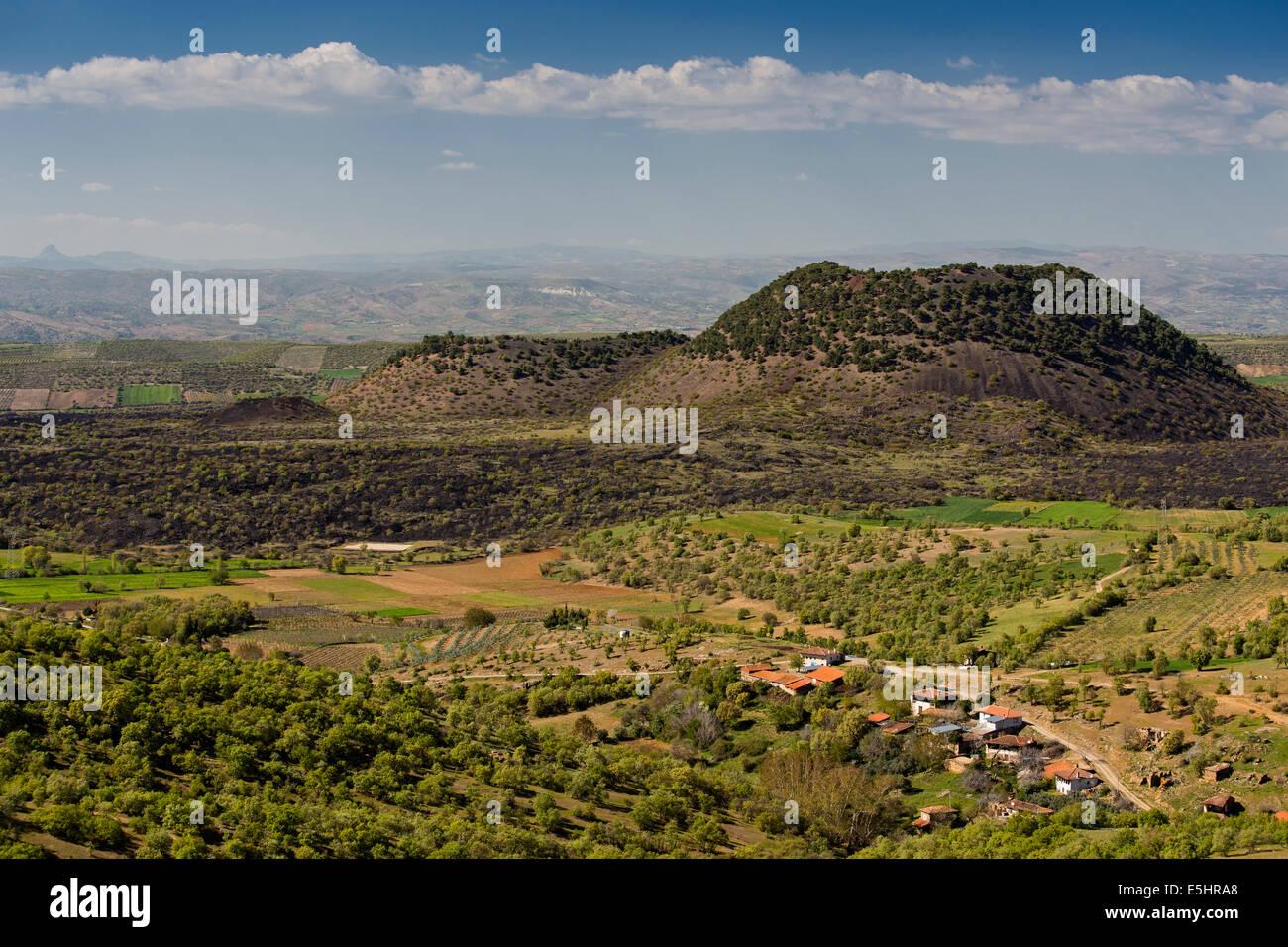 Kula Volcanic Cones Geological Park Manisa Turkey - Stock Image