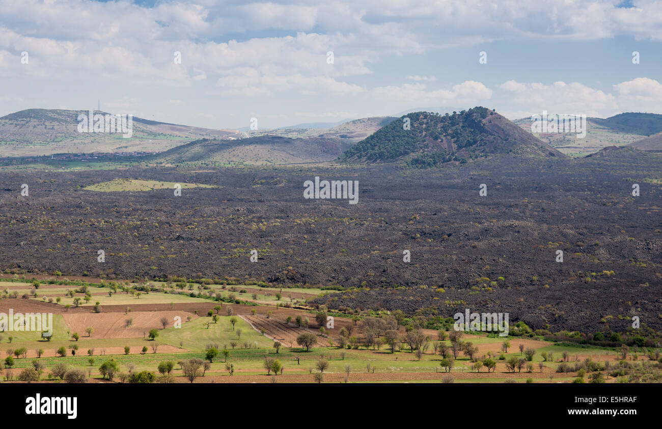 Sandal volcanic cone Geological Park Manisa Turkey - Stock Image