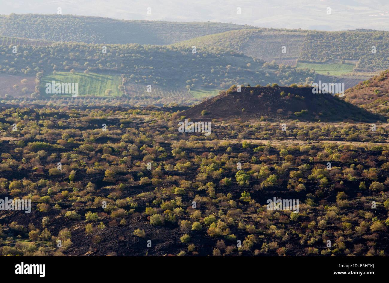 Kaplan volcanic cone Geological Park Manisa Turkey - Stock Image