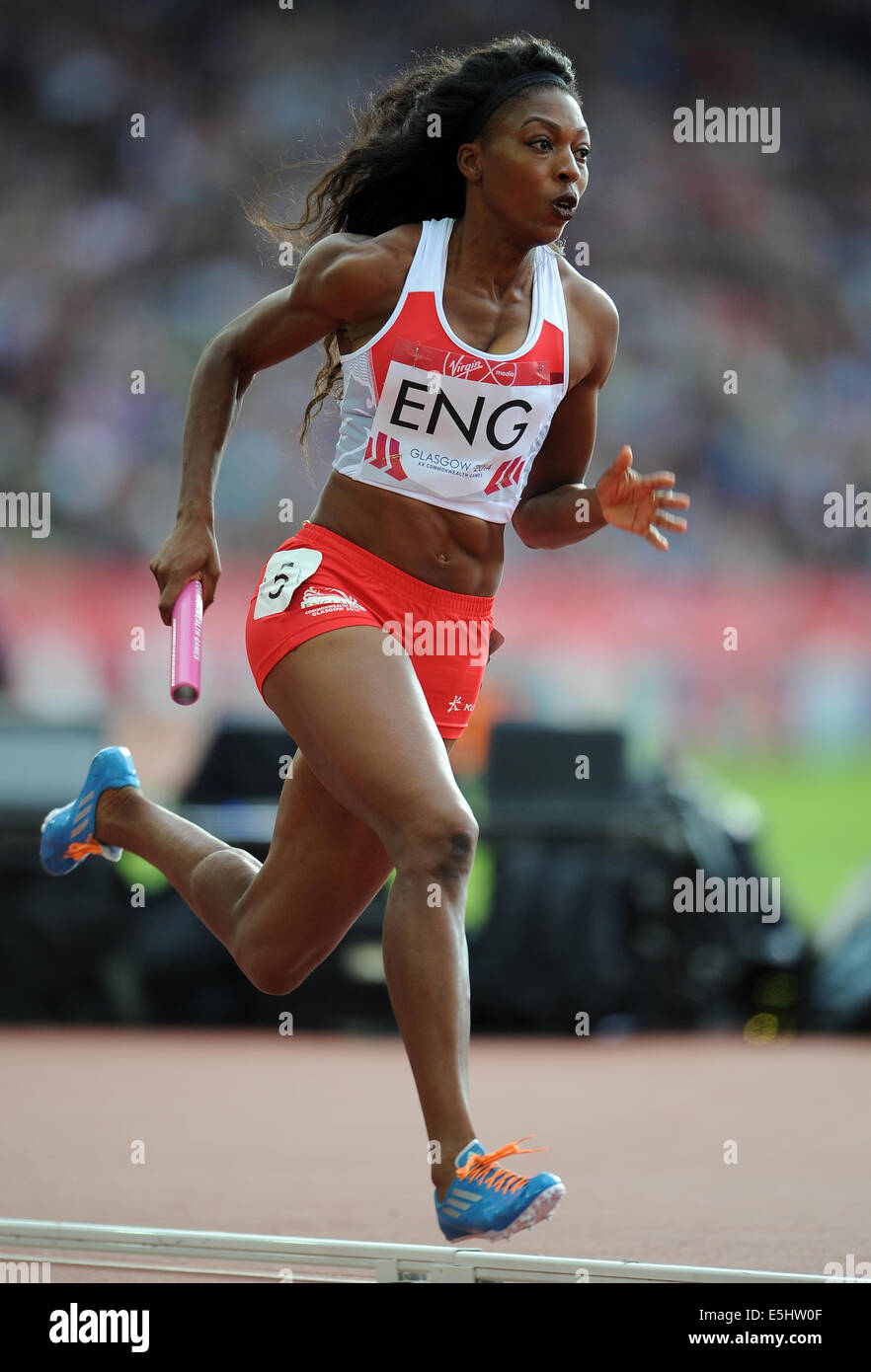 MARGARET ADEOYE WOMAN'S 4X400M RELAY HAMPDEN PARK GLASGOW SCOTLAND 01 August 2014 - Stock Image
