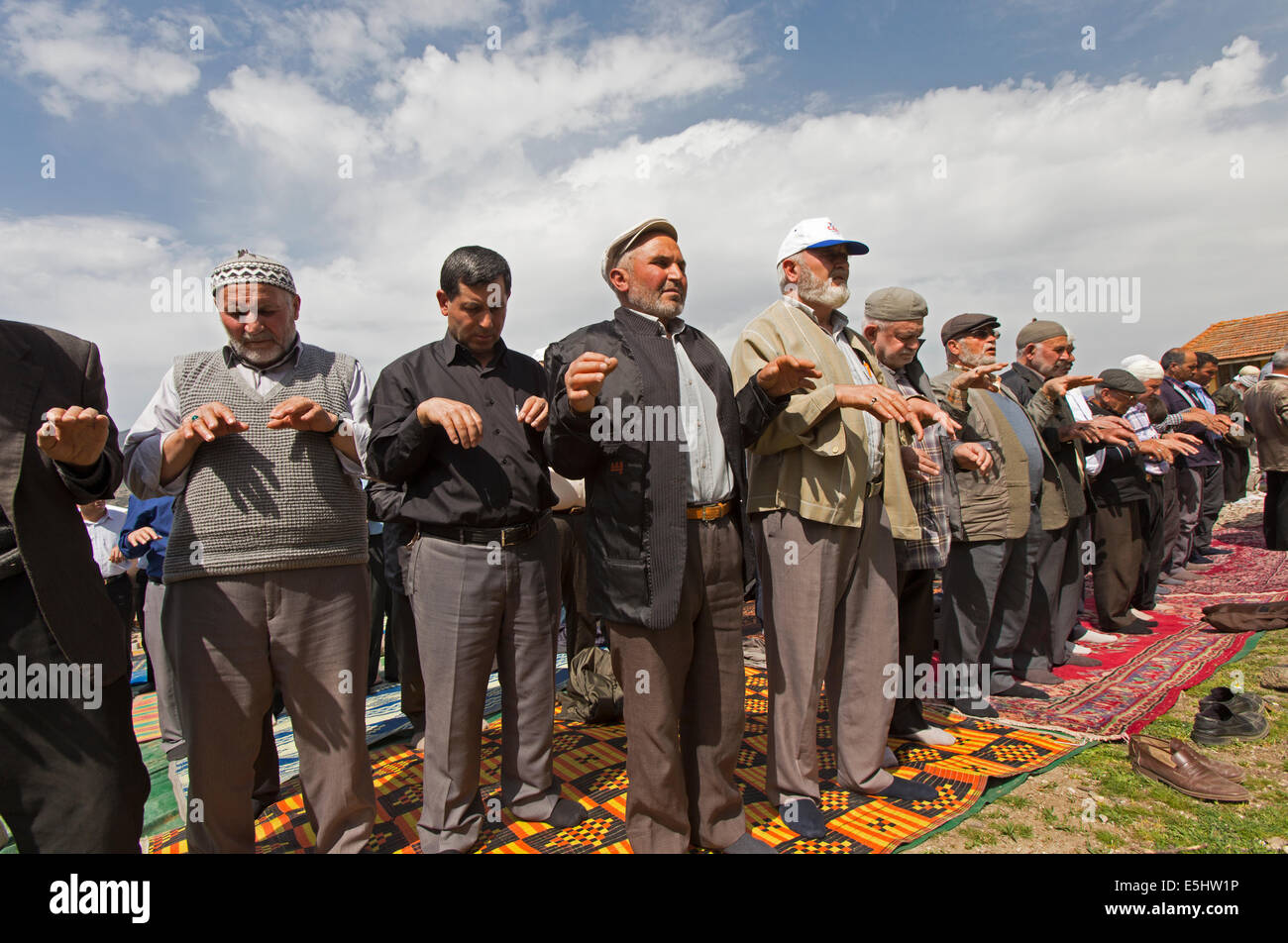 Rain praying in Kula Manisa Turkey - Stock Image