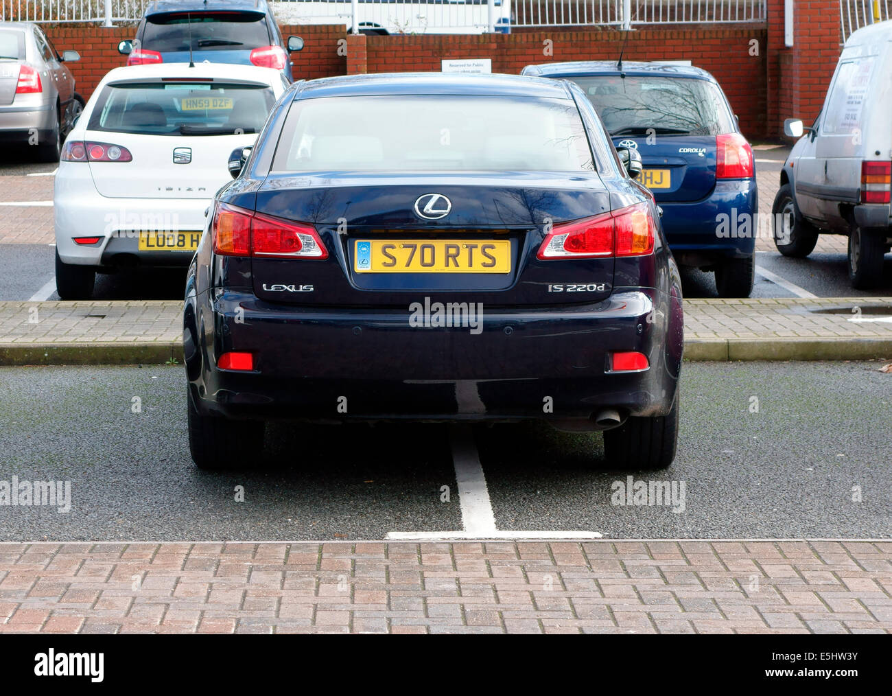 Badly parked car - Stock Image
