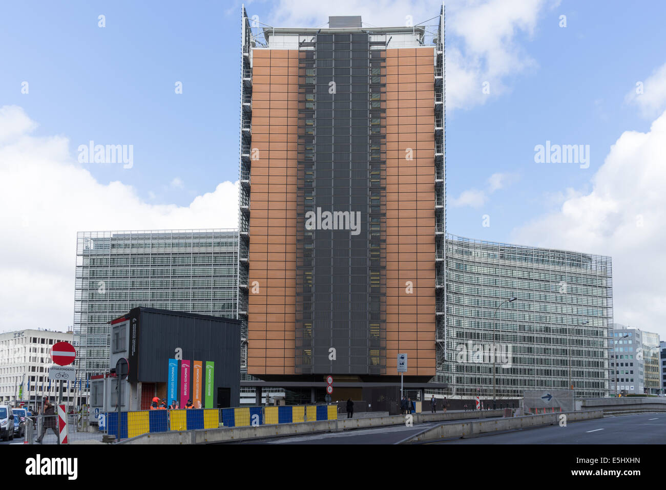The Berlaymont  Building Brussels - Stock Image