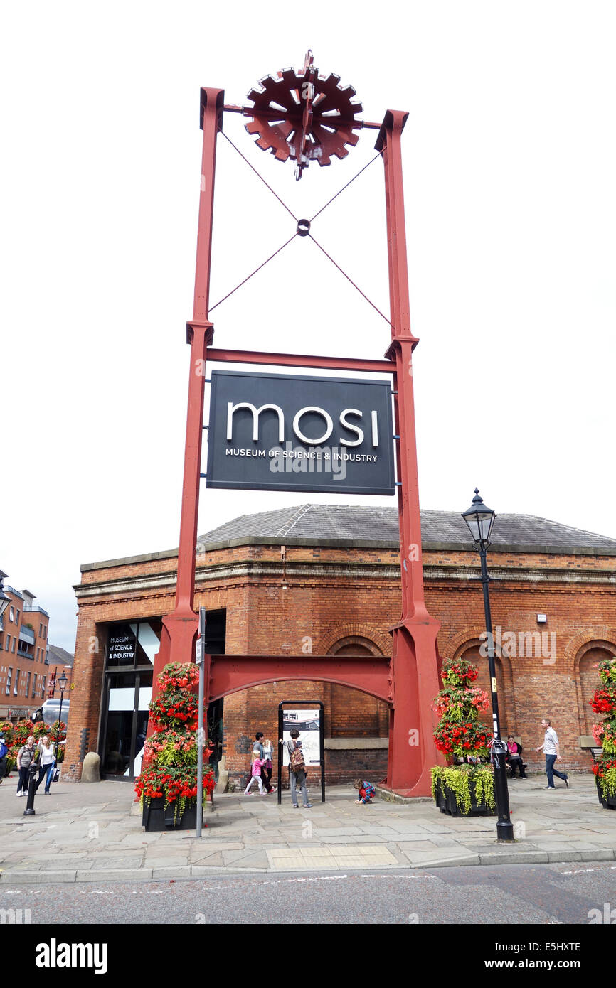 The museum of science and industry in castlefields, manchester, england, uk - Stock Image