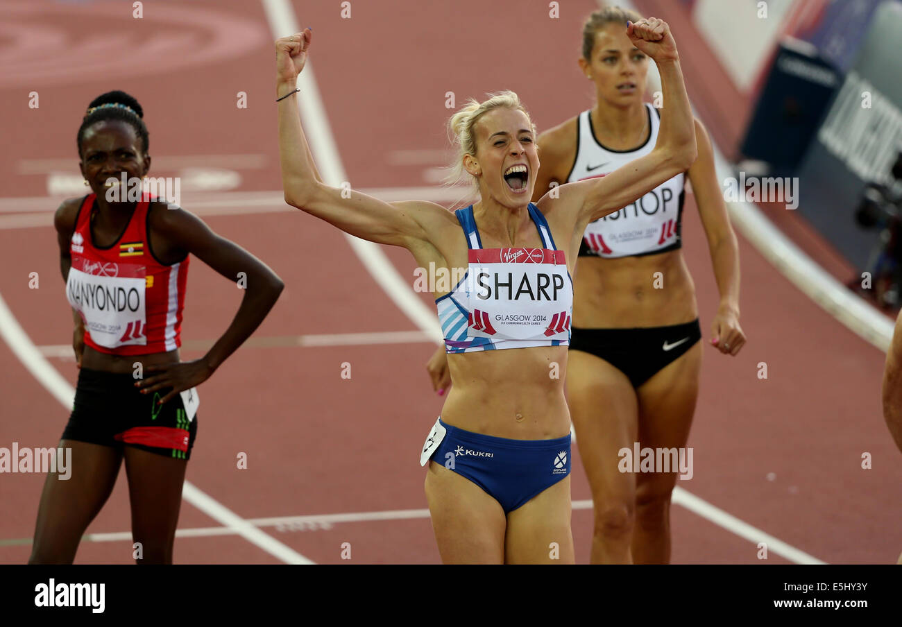 LYNSEY SHARP 800M FINAL HAMPDEN PARK GLASGOW SCOTLAND 01 August 2014 - Stock Image