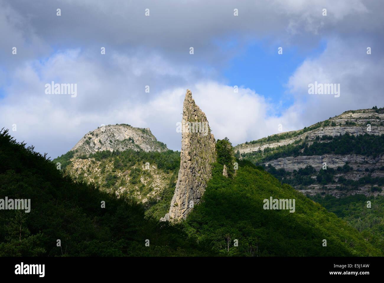 LIMESTONE 'BLADE'. Lame de Facibelle, Alpes-de-Haute-Provence, France. - Stock Image