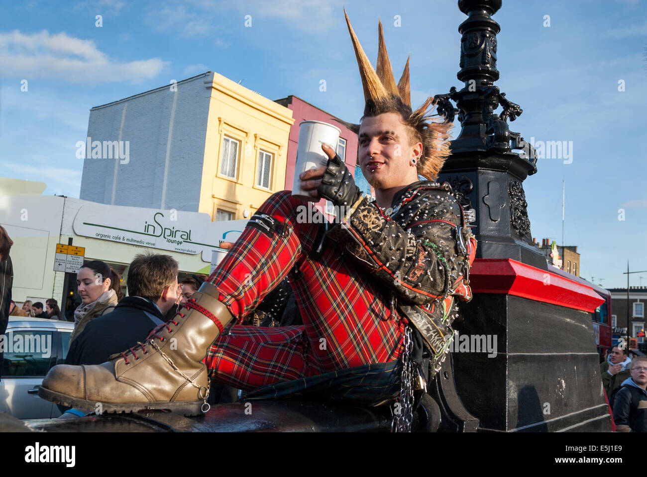 Punk Camden Town London England Uk Stock Photo