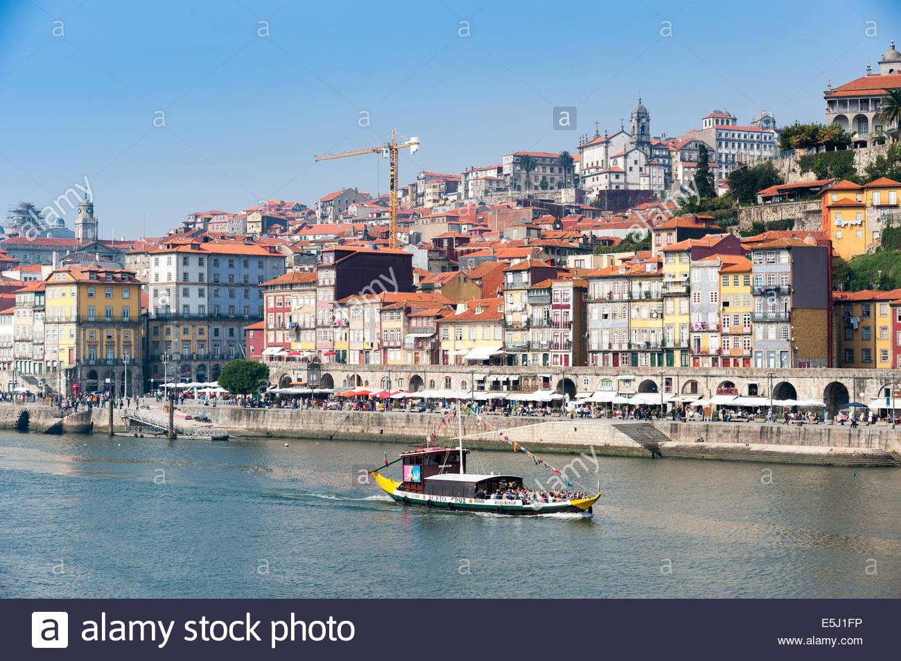 Douro River, Porto, Portugal - Stock Image