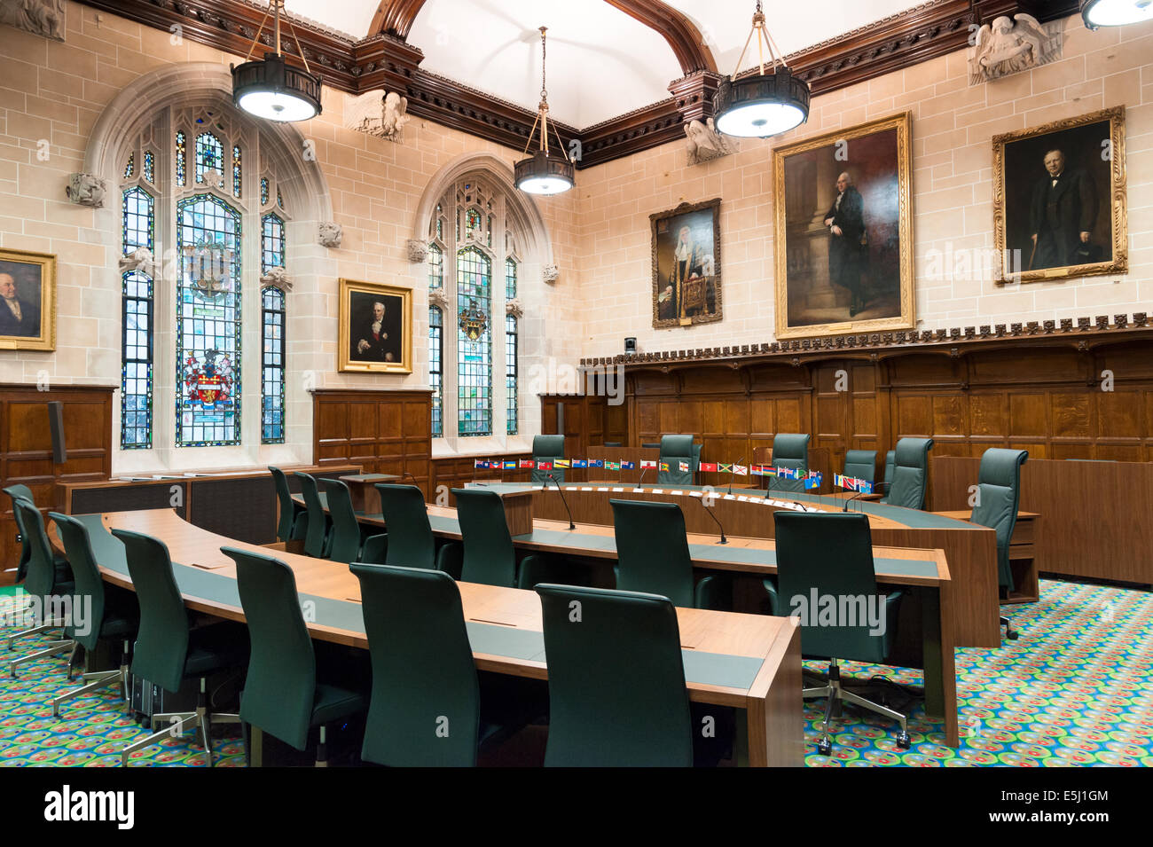 Courtroom 3 of The Supreme Court of the United Kingdom, London, UK - Stock Image