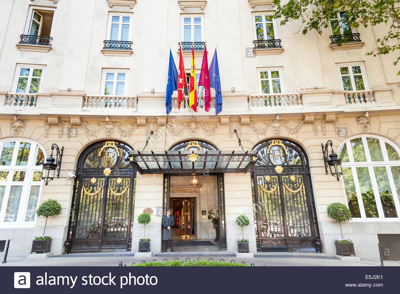 The Ritz Hotel, Madrid, Spain - Stock Image