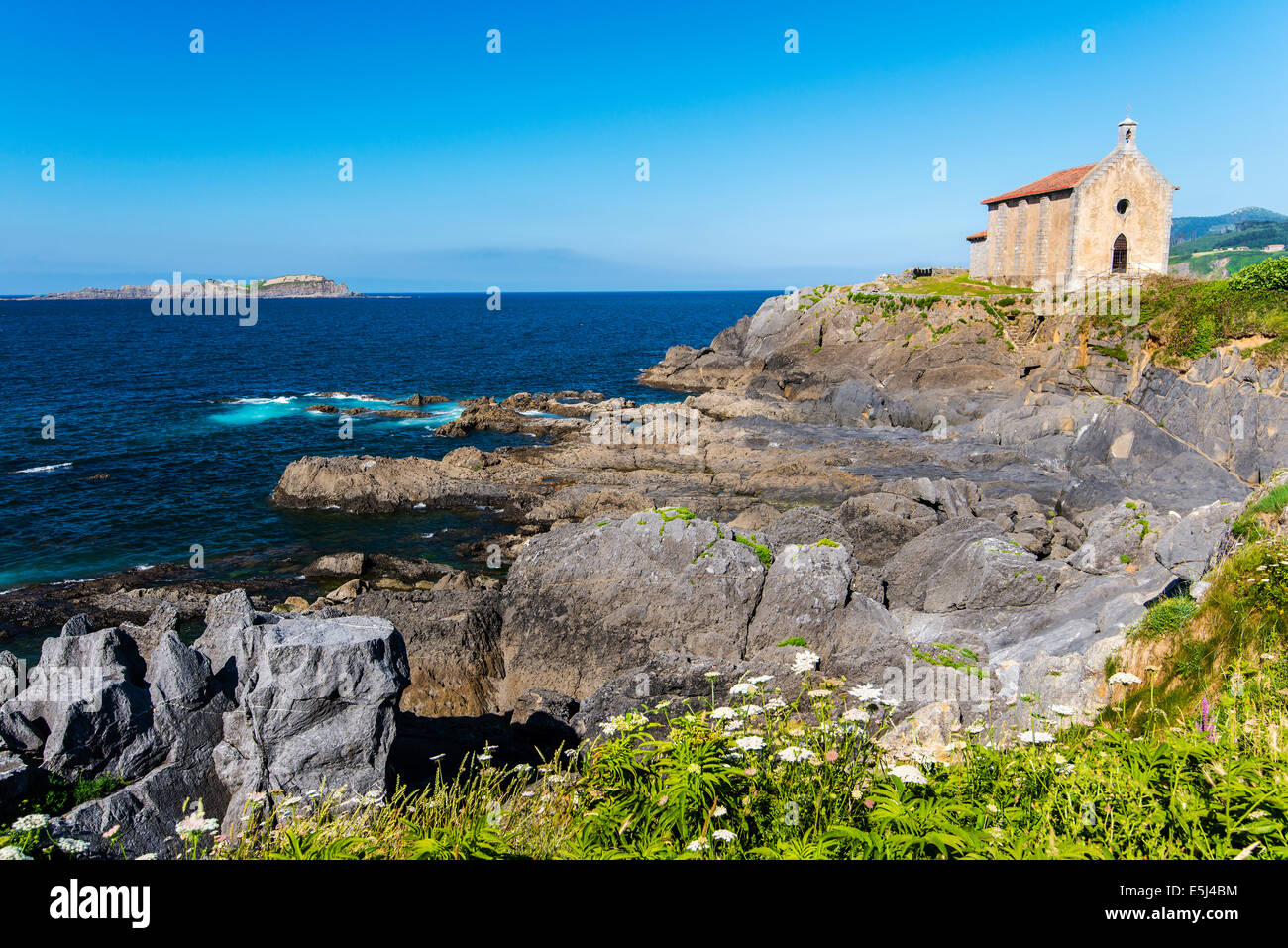 Chapel of Santa Catalina, Mundaka, Biscay, Basque Country, Spain - Stock Image